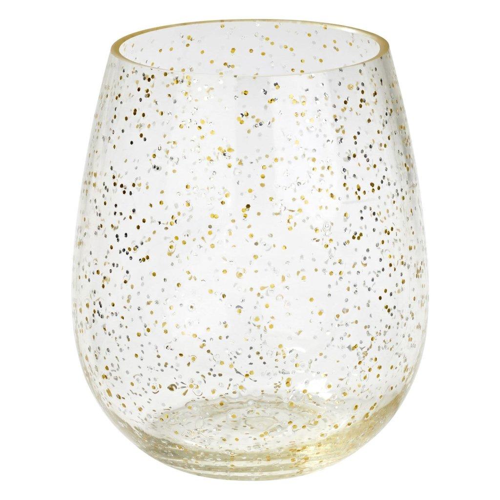 Merritt Festive Glitter 19oz Stemless Wine
