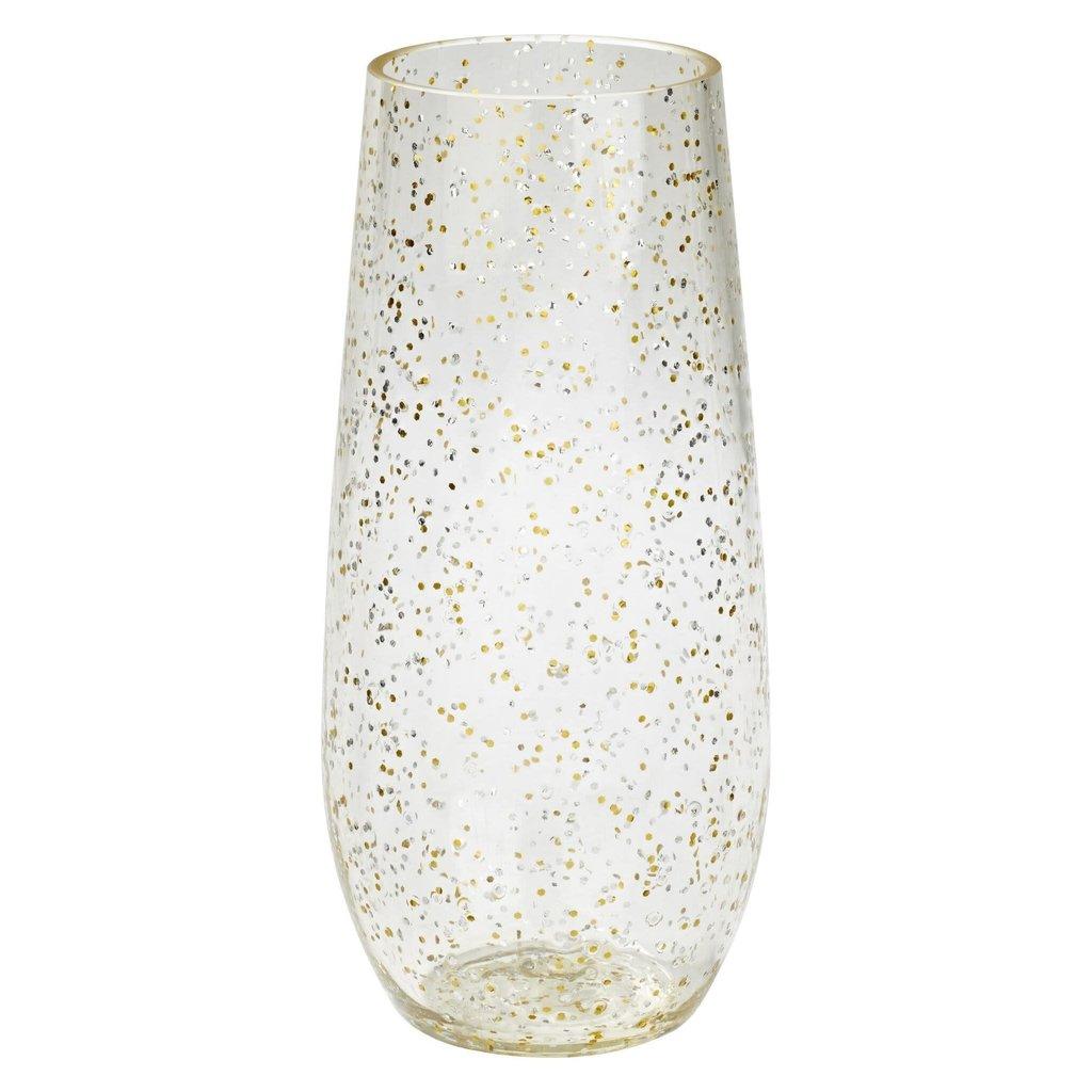 Merritt Festive Glitter 8oz Stemless Champagne