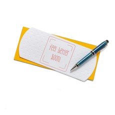Color Box Letterpress Bandaid Feel Better Card