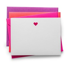 Color Box Letterpress Laser Cut Notecards- Heart (set/6)