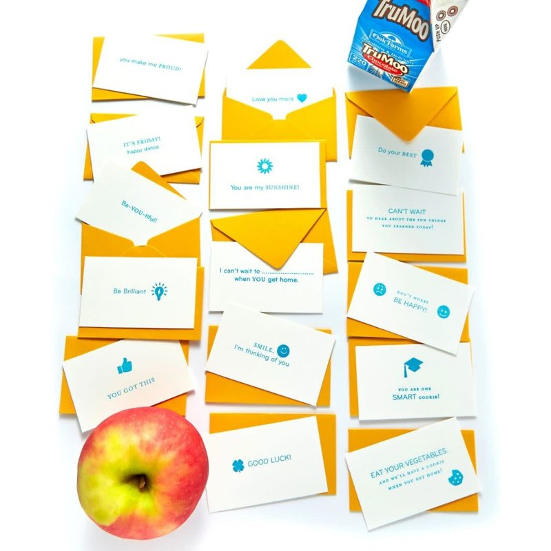 Color Box Letterpress Lunch Box Emoticards- set/15