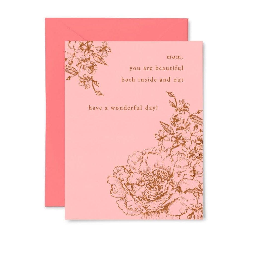 Color Box Letterpress Beautiful Mom Card