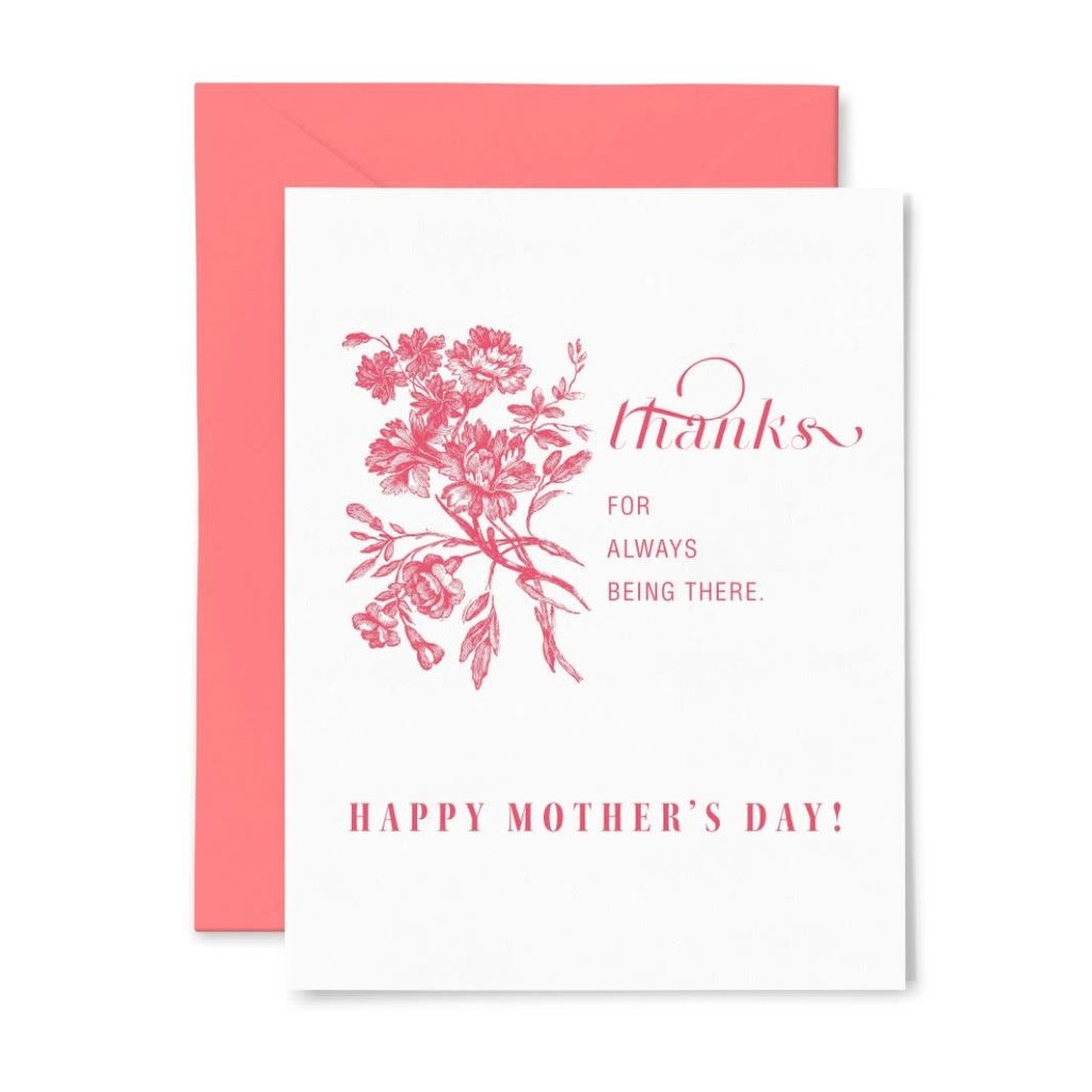 Color Box Letterpress Being There Mom Card
