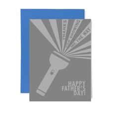 Color Box Letterpress Flashlight Father's Day Card