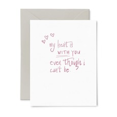 Color Box Letterpress Heart is With You- Sympathy Card