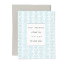 Color Box Letterpress Hug Sympathy Card