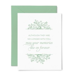 Color Box Letterpress Memories Sympathy Card