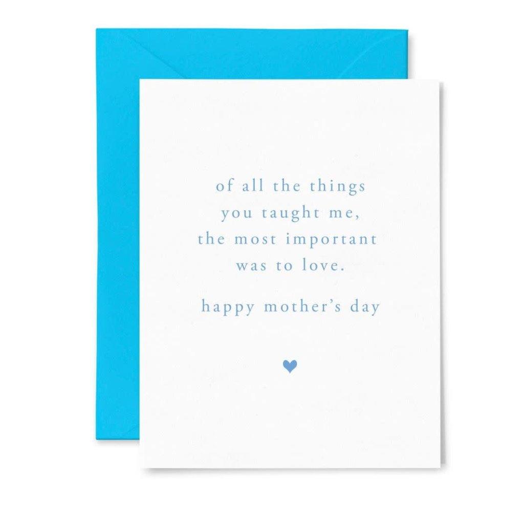 Color Box Letterpress Mom Love Mother's Day Card