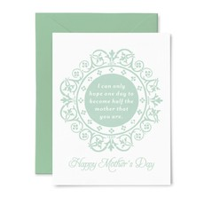Color Box Letterpress One Day Mother- Mother's Day Card