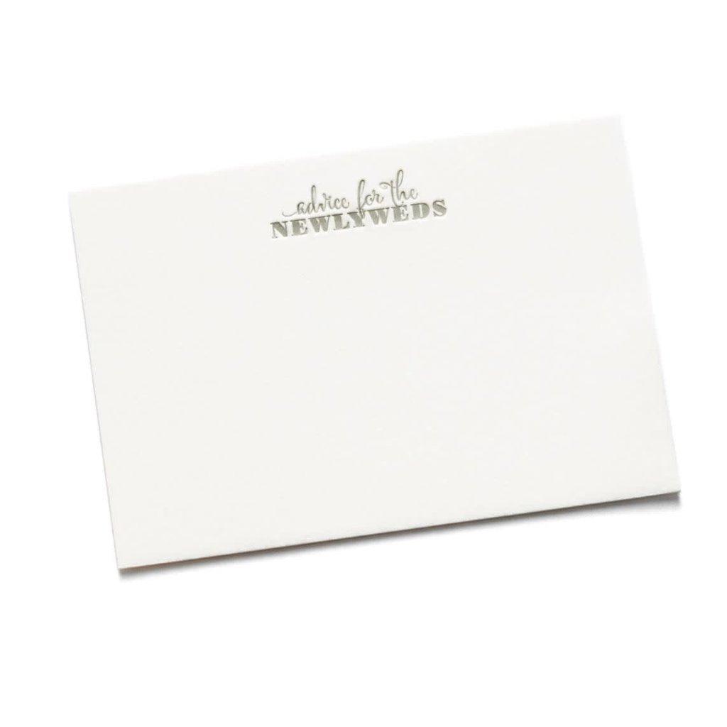 Color Box Letterpress Marriage Advice Cards- set/15