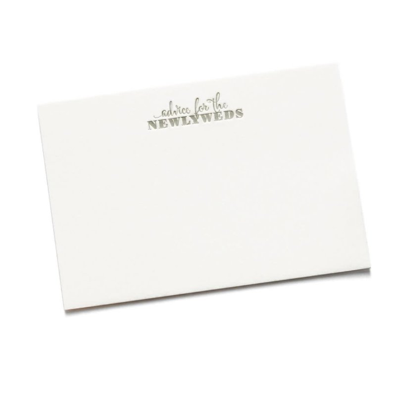 Color Box Letterpress Marriage Advice Cards- set/15