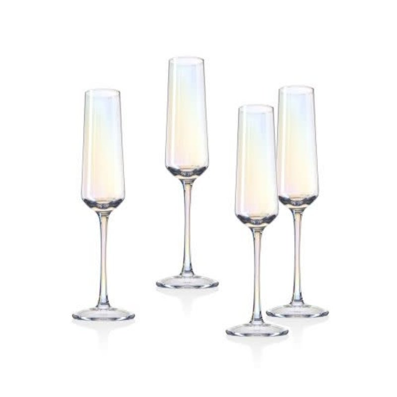 Godinger Monterey Set of 4 Champagne Flute