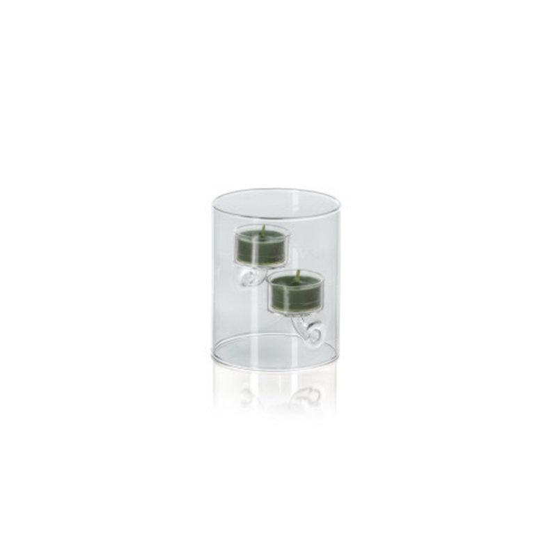 Zodax Suspended Glass Tea Light Holder 4'' x 4.75''