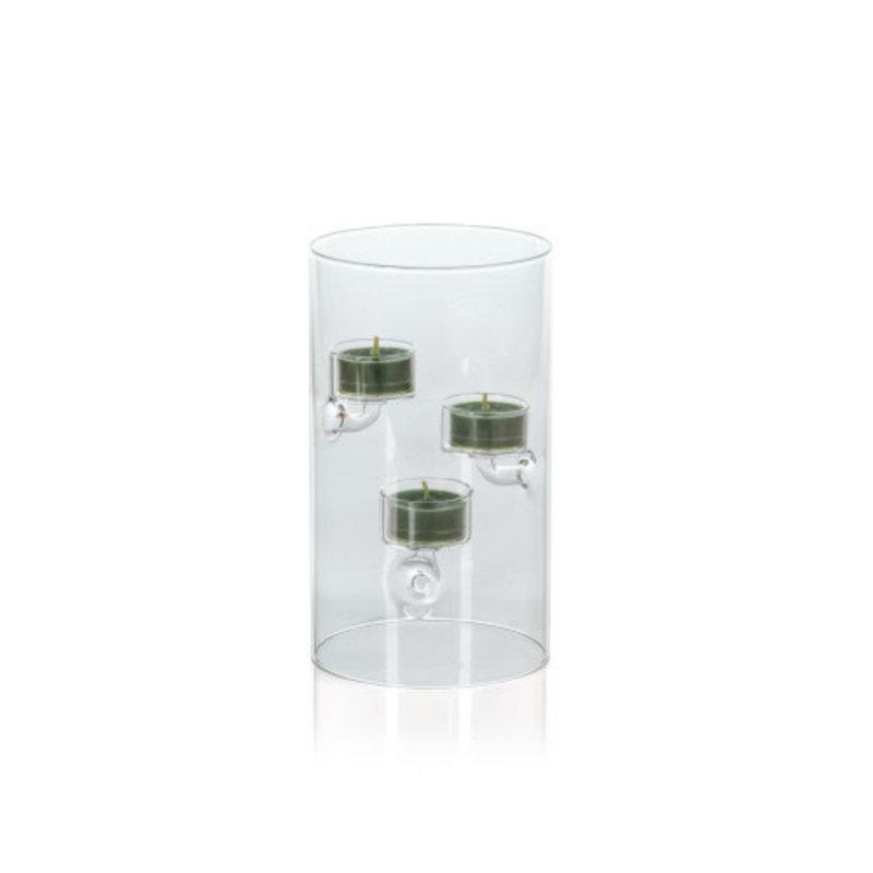 Zodax Suspended Glass Tea Light Holder 4'' x 8.25''