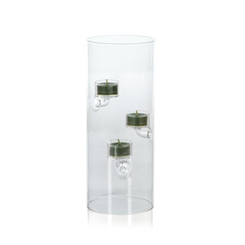 Zodax Suspended Glass Tea Light Holder 4.75'' x 11.75''