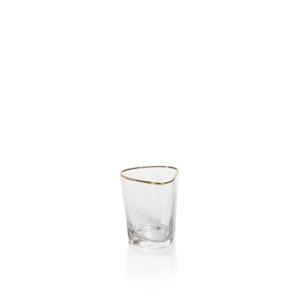 Zodax Aperitivo Triangular DOF Glass, Clear w/Gold
