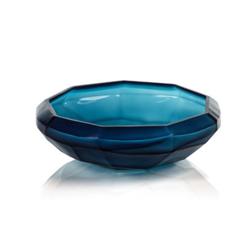 Zodax Cape Verde Hand Made Glass Bowl