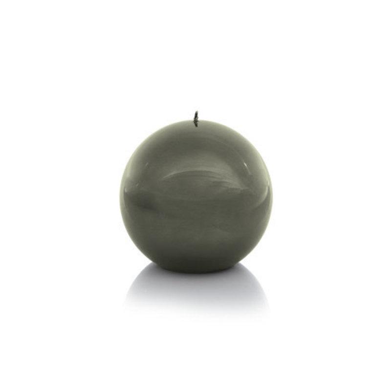 Zodax Shiny Metallic Ball Candle Green