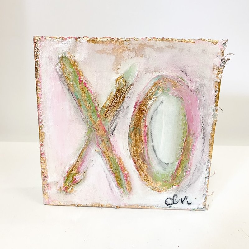 Claudia Nelson XO Resin Canvas 6 x 6