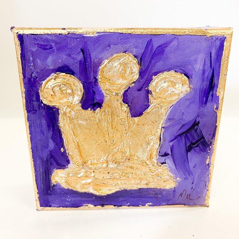 Claudia Nelson Bright Purple Crown 5 x 5