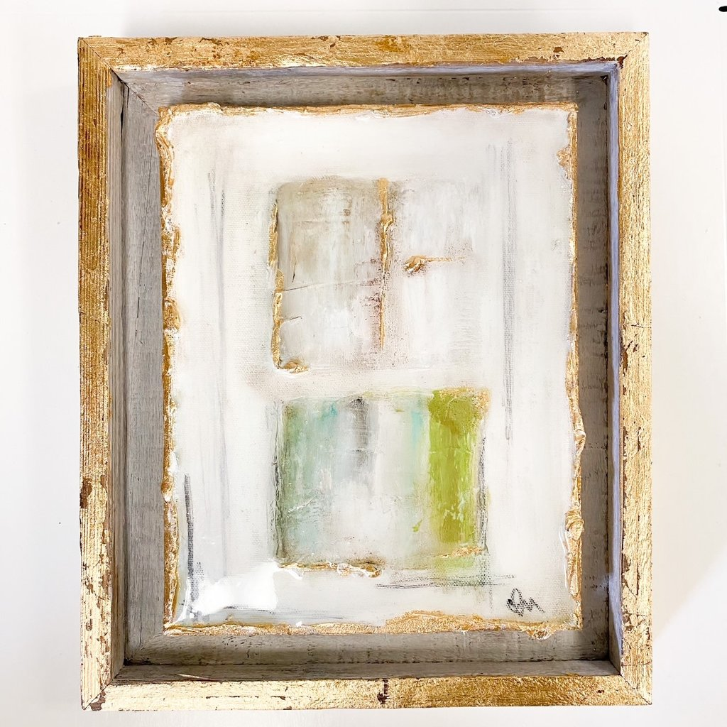 Claudia Nelson Abstract Floating Frame 11 x 13