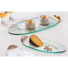 Annie Glass 15 1/4'' x 7 1/4'' Cheese Board