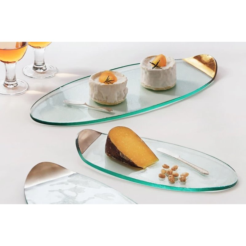 Annie Glass 15 1/4'' x 7 1/4'' Cheese Board