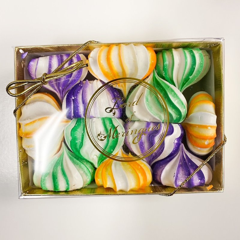 Lord of Meringues Mardi Gras Gift Box of Meringues