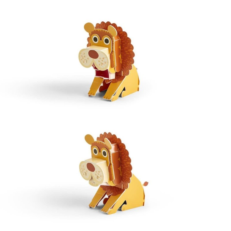 Two's Company On The Wild Side 3D Puzzle- Lion