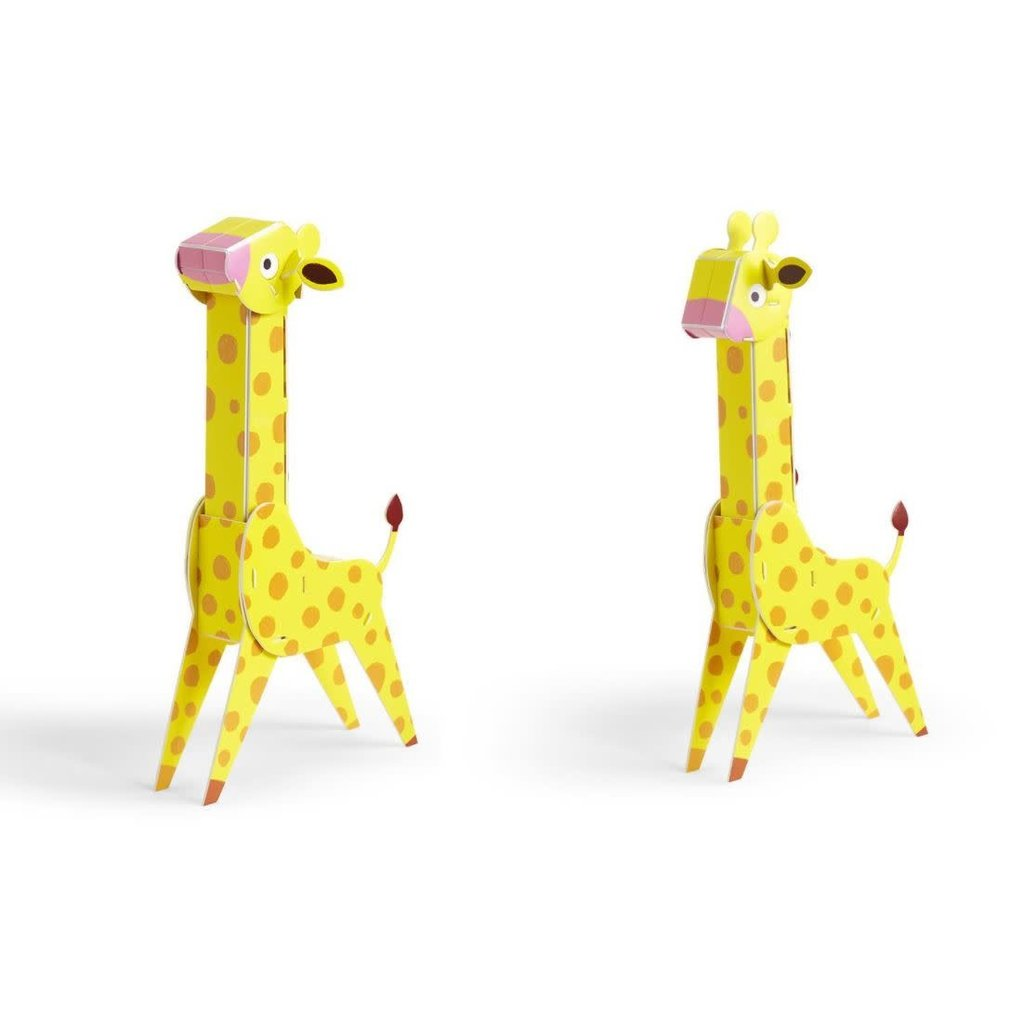 Two's Company On The Wild Side 3D Puzzle- Giraffe