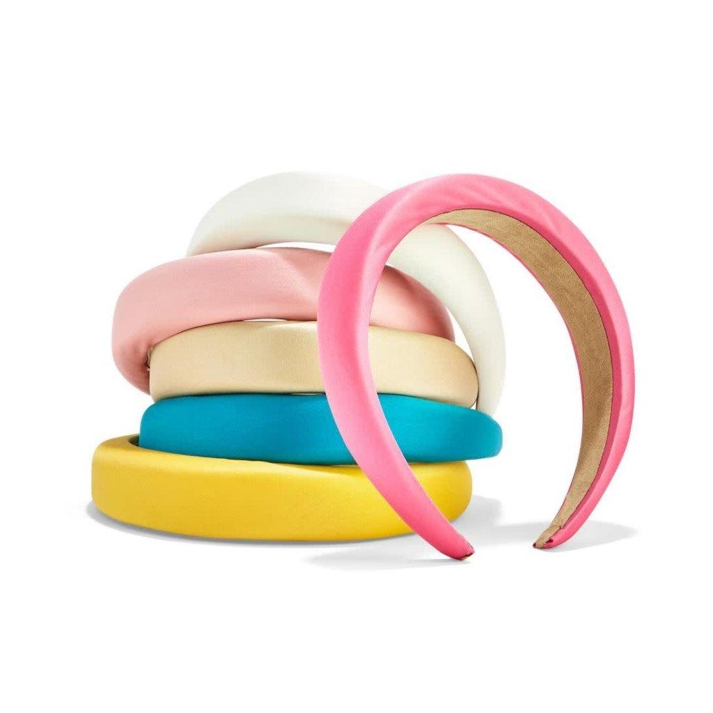 Two's Company Satin-like Padded Headband- Pearl