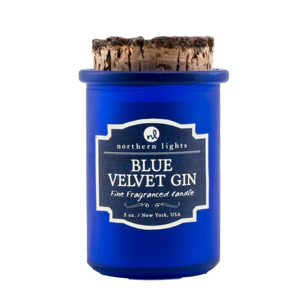 Northern Lights Blue Velvet & Gin Spirit Candle 5 oz