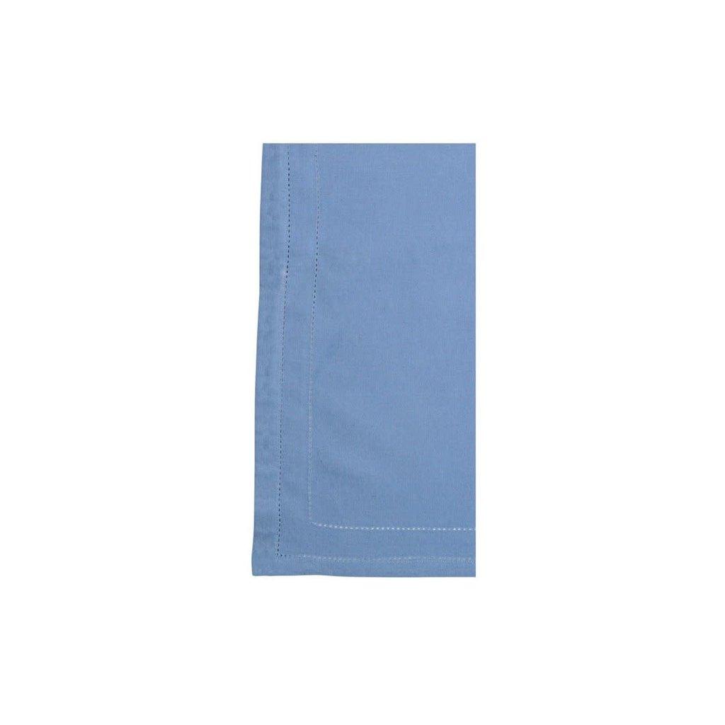 Vietri Cotone Linens Cornflower Blue Napkins with Double Stitching