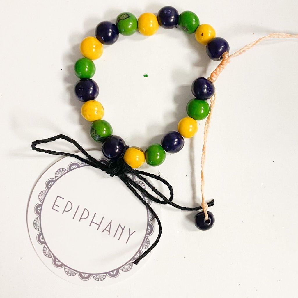 Epiphany Throws Krewe of Red Beans Bracelet