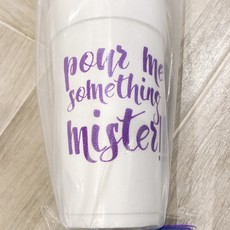 Elle Paperie Pour Me Something Mister Foam Cups- 20oz Purple Ink