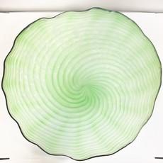 Ridge Walker Glass Ridge Walker Green Swirl Plate
