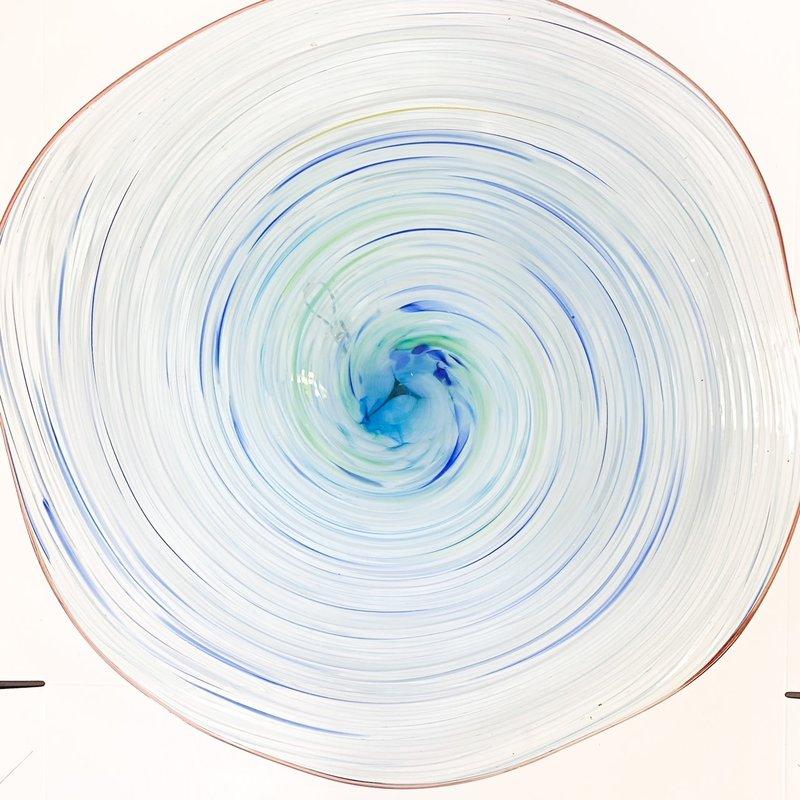 Ridge Walker Glass Ridge Walker Blue Swirl Plate
