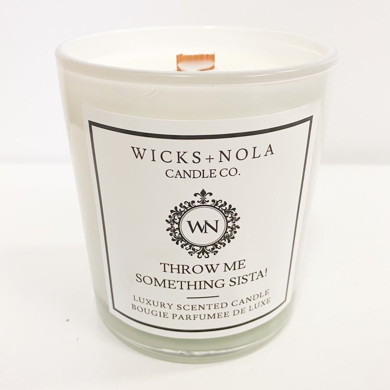 Wicks + Nola Candle Co. 11 oz Throw Me Something Sista! Candle