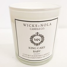 Wicks + Nola Candle Co. 11 oz King Cake Baby Candle