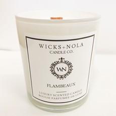 Wicks + Nola Candle Co. 11 oz Flambeaux Candle