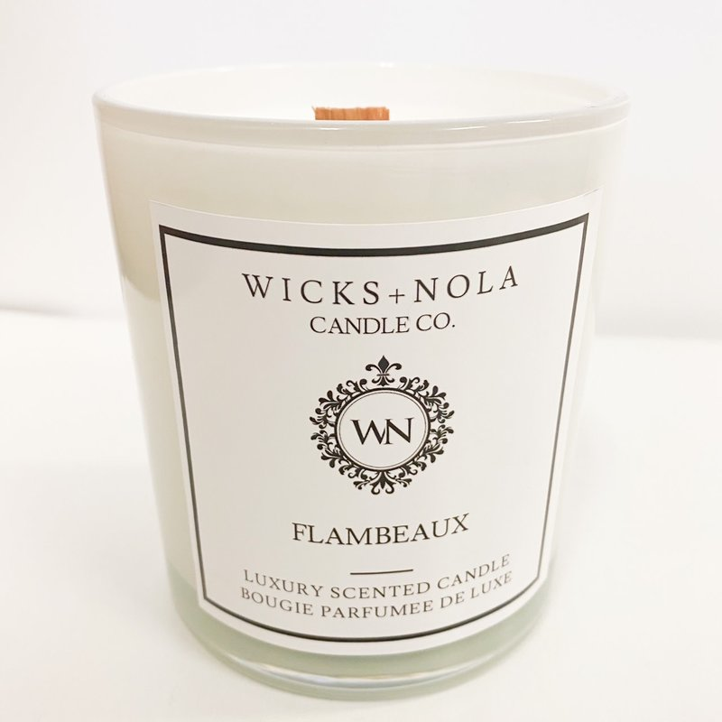 Wicks + Nola Candle Co. 11 oz Flambeaux Candle
