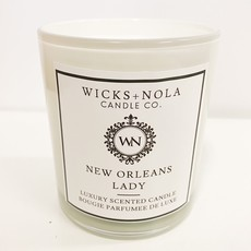Wicks + Nola Candle Co. 11 oz New Orleans Lady White Candle