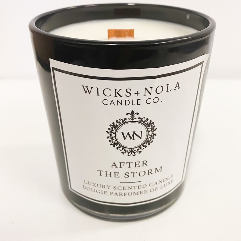 Wicks + Nola Candle Co. 11 oz After the Storm Black Candle