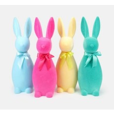 """One Hundred 80 Degrees Flocked Button Nose Bunny Lg 27"""""""