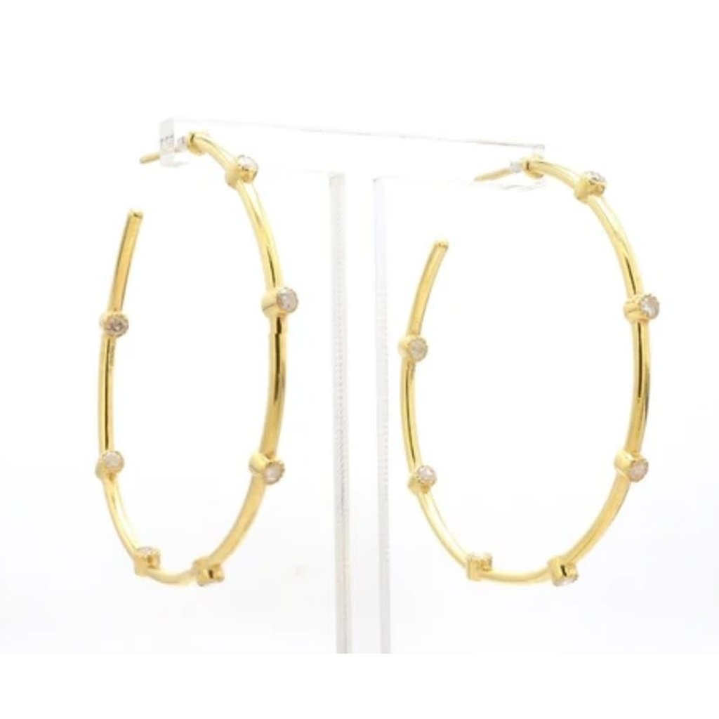Benazir Collection Charlotte Large Hoops in Gold