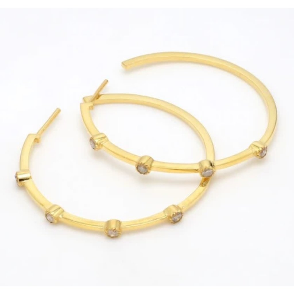 Benazir Collection Charlotte Small Hoops in Gold