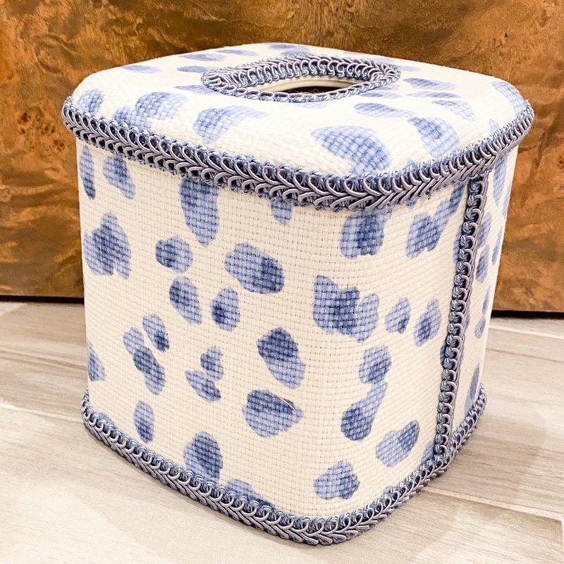 Jan Sevadjian Cheetah Blue Tissue Cover