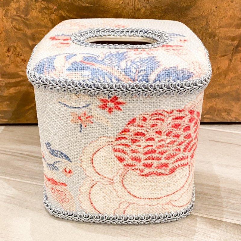Jan Sevadjian Cottage Blue Tissue Cover