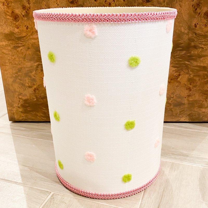 Jan Sevadjian Calypso Pink Green Wastebasket