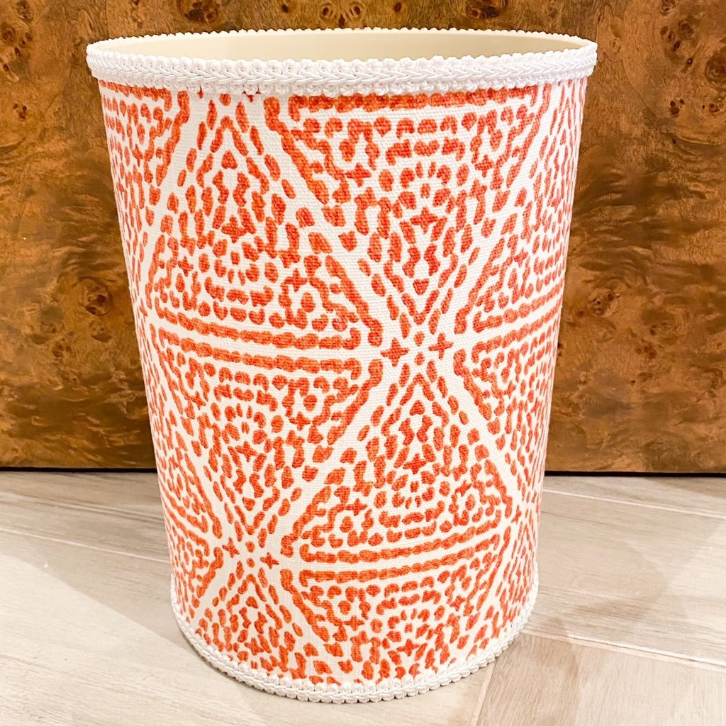 Jan Sevadjian Madrid Orange Wastebasket
